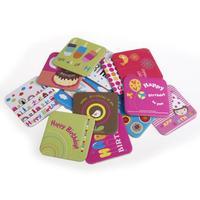15 pcs/lot Cute Cartoon Cardboard Coasters Heat Insulation Cup Mug Mat
