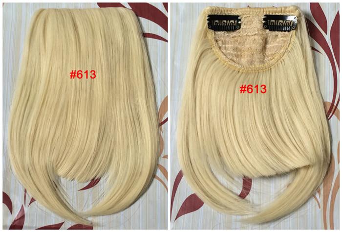 L2-613 блондинка цвет 2 клипы в челки принадлежащие синтетических бахрома волос для женщин волосы наращивание волос взрыва хорошее качество
