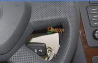 Новый высокое качество! Skoda octavia 3 натуральная кожа шить на руль покрытия для octavia автомобильные аксессуары