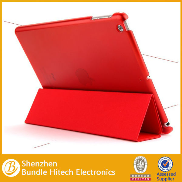 2013 New arrival leather case for iPad 5,for ipad air smart cover