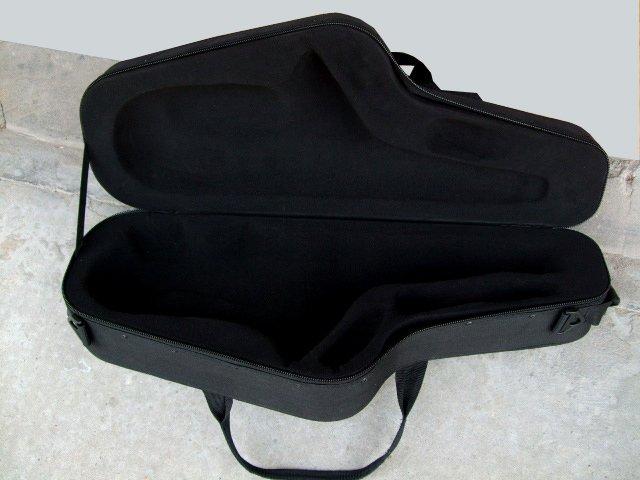 black poly Saxophone box-new product