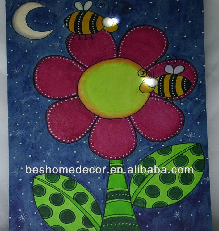 Fotos de pinturas abstractas con luz led para los niños& sala de ...