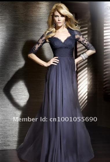 2012 Sheath Prom Dress Formal Evening Dresses Gowns Mother of the Bride Dress+Free Jacket