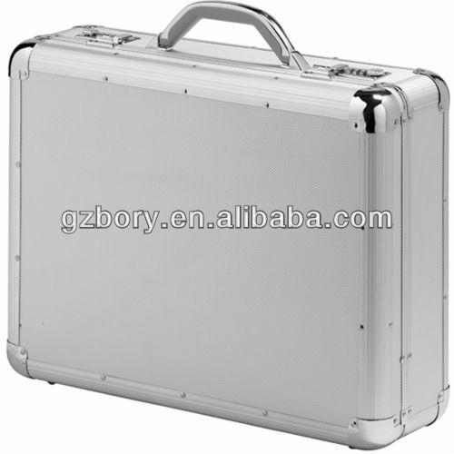 hot sale aluminum briefcase tool case laptop case with silver color