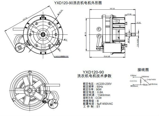washing machine motor rpm