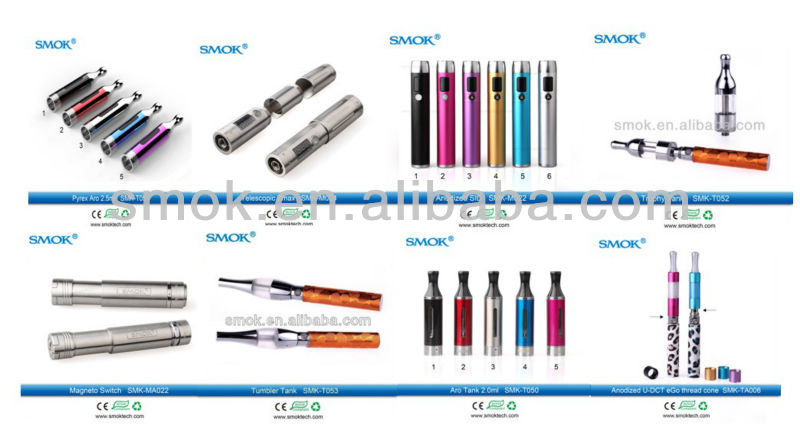 2013 hottest e cigarettes uk!!! high quality smok tech anodized aluminum SID vv vw e cigarette variable voltage battery