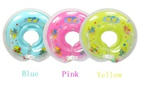 Safe BABY INFANT bath Swim Aids Neck Float Ring -- color you choose yellow blue pink