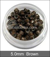 Звенья, кольца и трубы Реми волос 5,0 * 3,0 * 3,0 мм