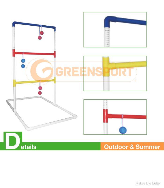 Ladder golf set golf toss ball shelf plstic tube