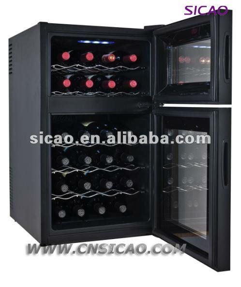 Respectueux de l 39 environnement 28 bouteilles porte en verre de r frig rat - Cave a vin thermoelectrique ...