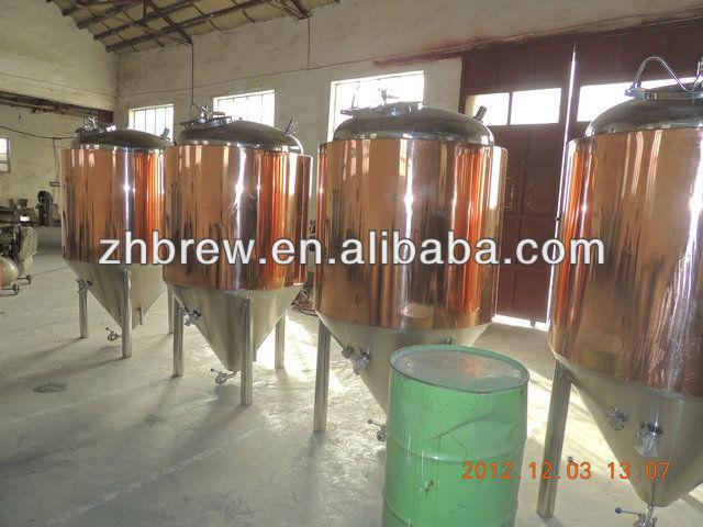 red copper beer fermentation tanks/fermenting tanks CE OEM factory