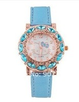 HOT selling Cute Kitty Crystal-decorated Bracelet Wrist Watch for gift free shipping
