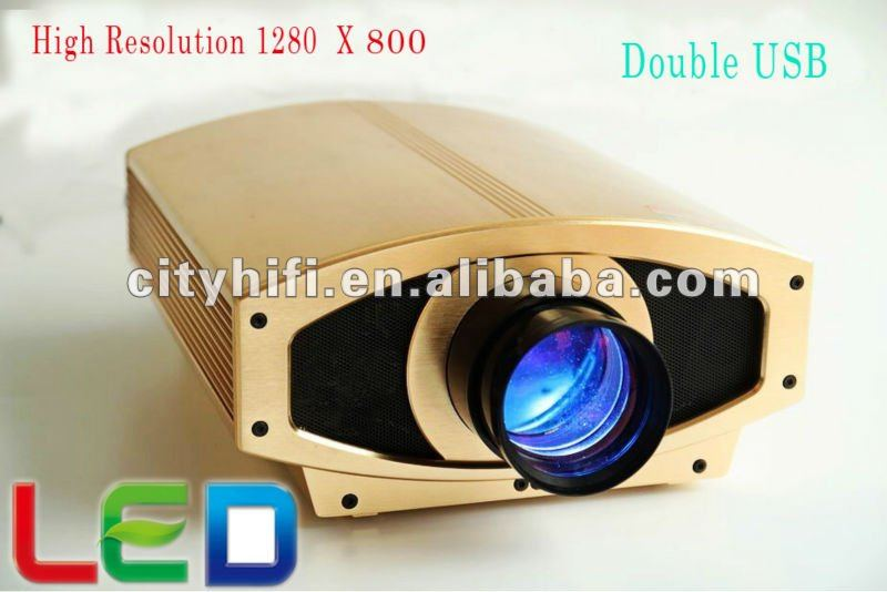 Top rank HDMI 3000 lumens LED video projector 1280x800 resolution double USB HDMI