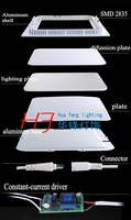 Free shipping 15w  1050LM square led panel light spot light down light tetris lamp led lamp