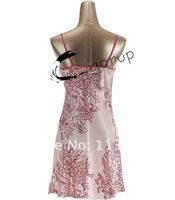 Женский комплект для сна NWT pink silk ladies women's sexy 2 piece wrap pjs LINGERIE plus big size 2x 3x sleepwear night sleep gown&robe chemise sets 112