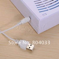 Вентилятор New No Leaf Fans Air Conditioner Mini Portable Bladeless Refrigeration Fan Desktop with USB Cable / Battery