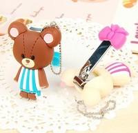 20шт kawaii медведь 5 * 4 см Ножницы маникюрные ножницы; Триммеры ногтя пальца; Брелок Кулон ножи фрезы кусачки