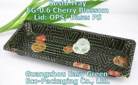 Cherry blossom plastic food tray EG-0.6