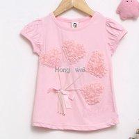 Футболка для девочки 5pcs/lot, Original brand with al t shirt short sleeve shirt white t shirts TT8820-1