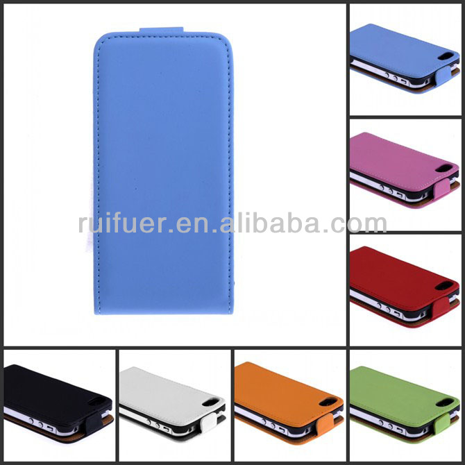 Manufacturer High Quality PU Leather Slim Fit Flip Mobile Phone Cover for Iphone 4 4G