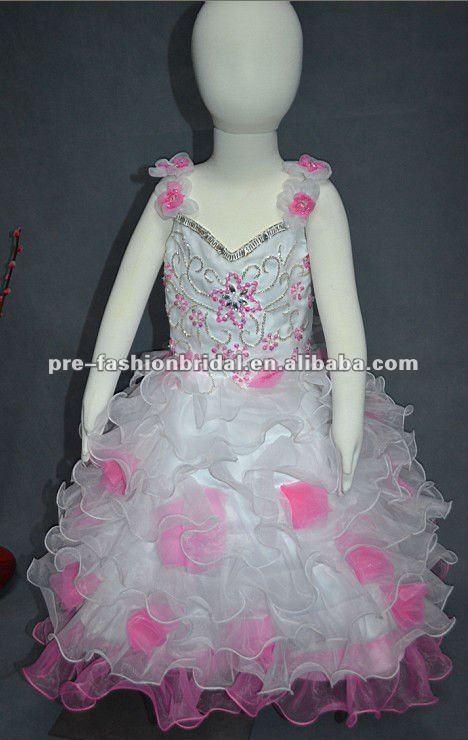Caliente venta dos- hombro de organza blanca& rosa el último ...