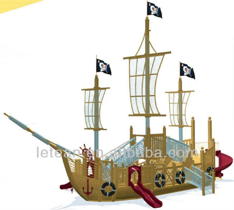 Wooden playground pirate ship luxury pirate ship outdoor - Wooden pirate ship outdoor ...