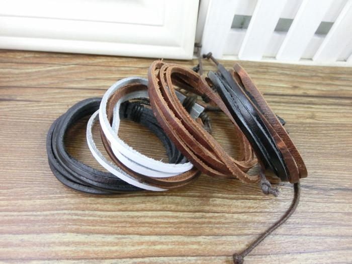Многоцветный string pi027/пу кожаный браслет, высокое качество, случайный цвет браслет, ювелирные изделия, Цена .factory