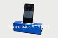 портативный динамик для ipod/iphone3g/iphone4, для iphone 4s док станция спикер, принять usb и микро sd карты слот s06