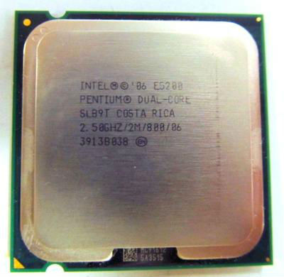 Intel Dual-Core SLB9T E5200 2.50GHz 2M 800MHz LGA775 Tested Processor