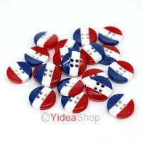 Wholesale - 800pcs New Arrival 2 Holes Acrylic White Blue Design Sewing Buttons Fit Clothes 10mm DIY 111618