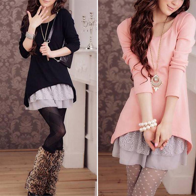 Модные женские зимние платья