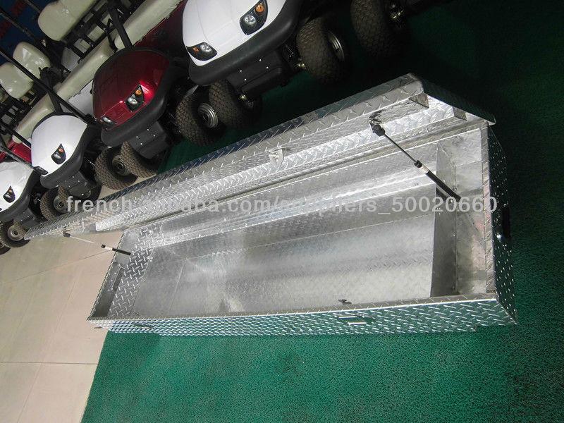 Boîte à outils en aluminium pour voiture pick-up, top diamant usine de pièces de la plaque