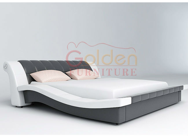 Foshan golden furniture new style double cot bed designs for Double bed new design