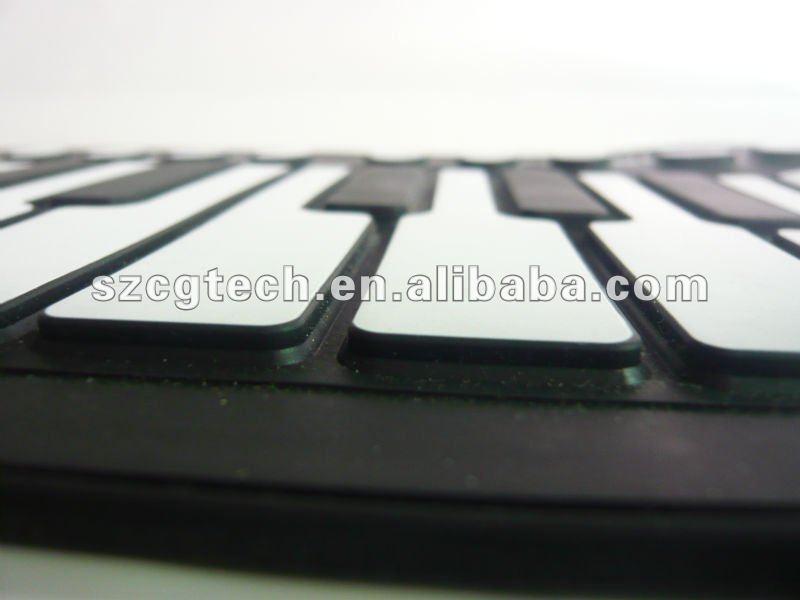 61 keys silicone flexible electric piano keyboard,china victory roll up piano keyboard,foldable piano keyboard
