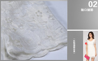 Женское платье 2013 Stylish Women Summer Sweet Lace Dress Mini Slim Short Sleeves Base Waist One Piece White Dresses