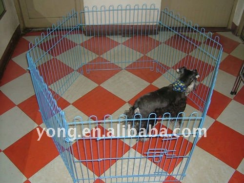 Galvanized steel dog cage pet house