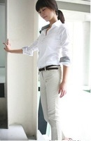 Hot !!!2012 Fashion Ladies leisure shirt,pretty ladies blouse ,Womens Blouse,Ladys Shirt,OL Blouse,Womens clothing,White
