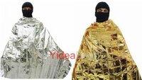 6pcs Aluminized Windproof Emergency Blanket Waterproof Body Wrap Survival Sheet for Outdoor 210 x 130 cm  270193