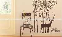 250cm*140cm wonderful fashion love forest large wall stickers, decals large