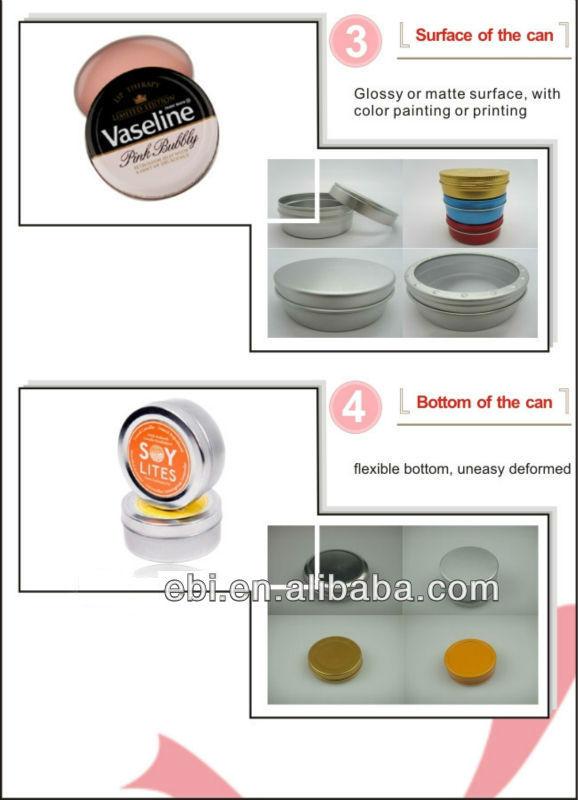 Custom printed small aluminum tin boxes round
