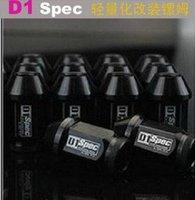 D1 свет вес колеса гонки гайки волочения p:1.5, l:52 мм алюминиевые гайки волочения 20pcs/set