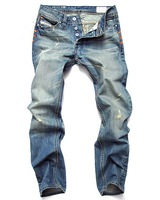 2012 free shopping Men's Slim Fit Classic Jeans Trousers Straight Leg Blue mens jeans,jeans brands,Size 28-38 Button New MJ046