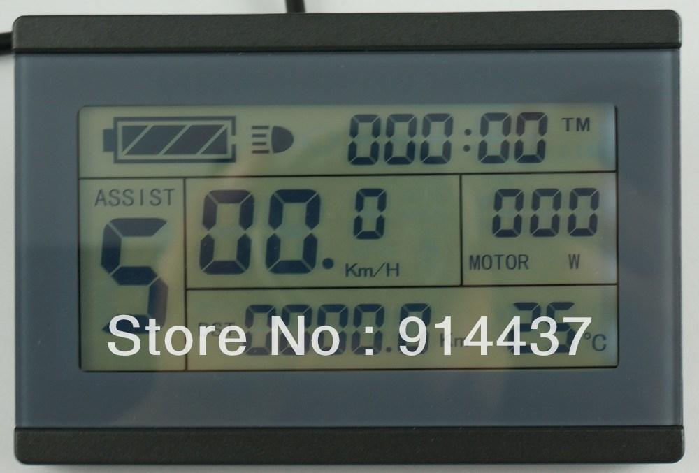 Ebike 24v 36v 48v intelligent black kt lcd3 ktlcd3 control panel.