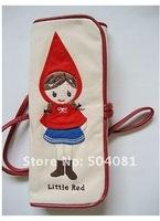 Карандаш сумки связываются ремнем милые маленькие красные