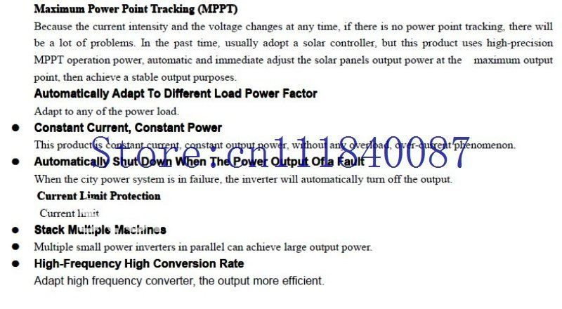 Special offer!  200W Grid Tie Inverter for solar panel