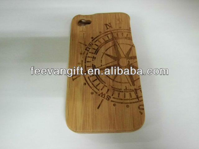 custom logo laser designs bamboo wood cases for iphone 4 and iphone 5