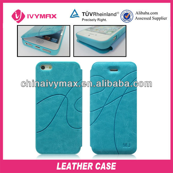 2 in 1 leather case for iphone 5 mobile phone cover