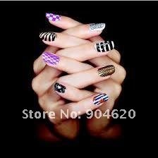 NEW ARRIVAL!!! Free Ship Wholesale Fashion Nail Film, Nail Patch Foils, Brilliance Shiny Self Adhesive Nail Sticker