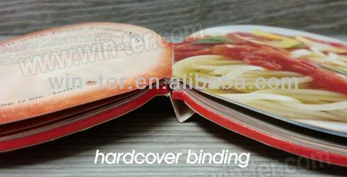 Hardcover art paper cook book design WT-COB-424