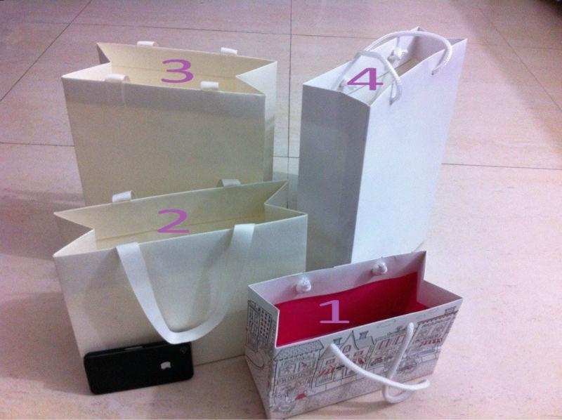 Gloss bottle wine paper gift bags